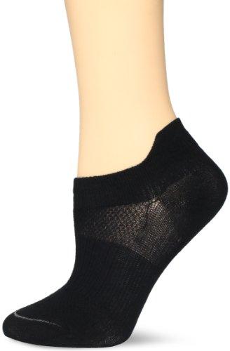 - Wrightsock Women's Coolmesh Ii Tab 3 Pack Athletic Socks, Black, Medium
