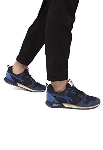 Nylon Jet E In sneakers Pelle W6yz m Blu xFdqzwzY