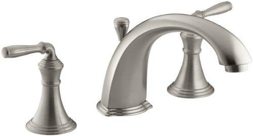 Devonshire Roman Tub Faucet - KOHLER K-T387-4-BN Devonshire Deck-Mount Bath Faucet Trim, Vibrant Brushed Nickel