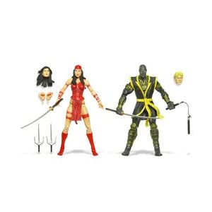 31jSio4 O5L. SS300 Hasbro Marvel Legends 2 Pack Figure- Elektra and Ronin