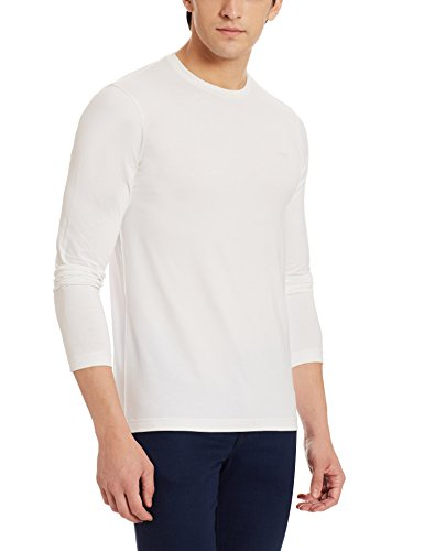 ARMANI JEANS Men's Extra Slim Fit Long Sleeve Tee, White, X-Large, XX