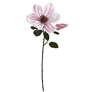 "Nearly Natural 2178-S18 17"" Magnolia Flower (Set of 18) Artificial Plant Pink 111"