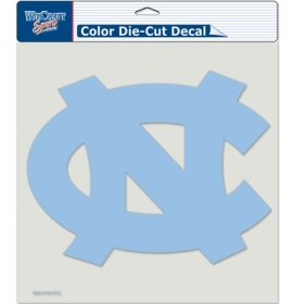 NCAA University of North Carolina 80344015 Perfect Cut Color Decal, 8