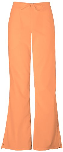 Cherokee Women's Workwear Scrubs Flare-Leg Drawstring Pant Orange Sorbet Medium