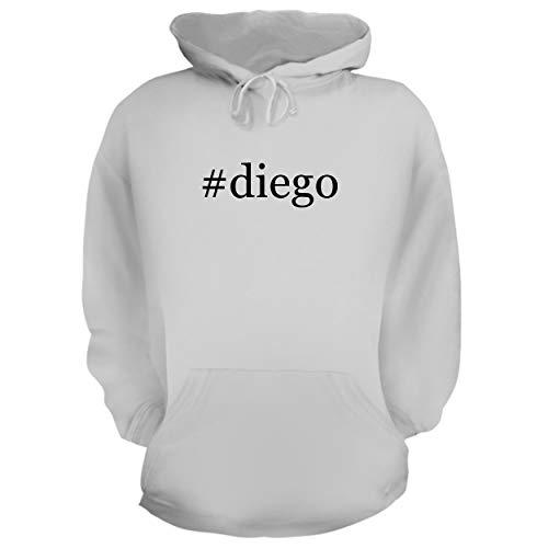 BH Cool Designs #Diego - Graphic Hoodie Sweatshirt, White, X-Large
