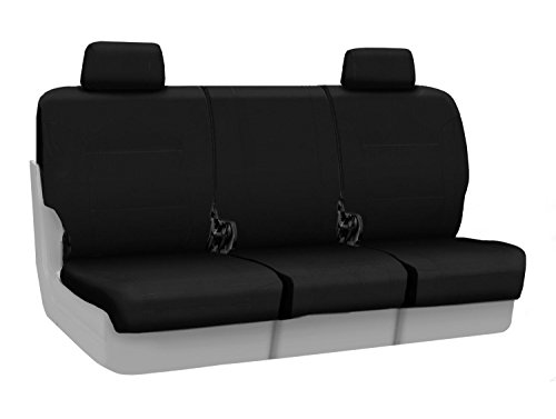 Coverking Custom Fit Front 40/20/40 Seat Cover for Select Ford F-250/350 Super Duty Models - Ballistic (Black)