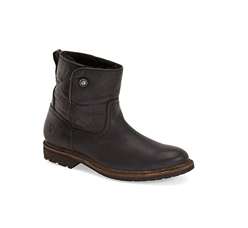 Frye Mujeres Mara Button Short Bota Black Soft Classic Leather