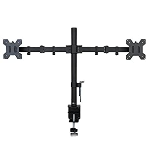 WALI Dual LCD Monitor Desk Mount Stand Fully Adjustable Fits Two Screens up to 27