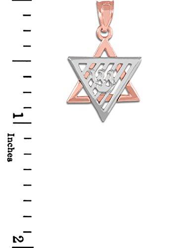 10 ct 471/1000 Deux Tons Or Rose etoile de David- Pendentif