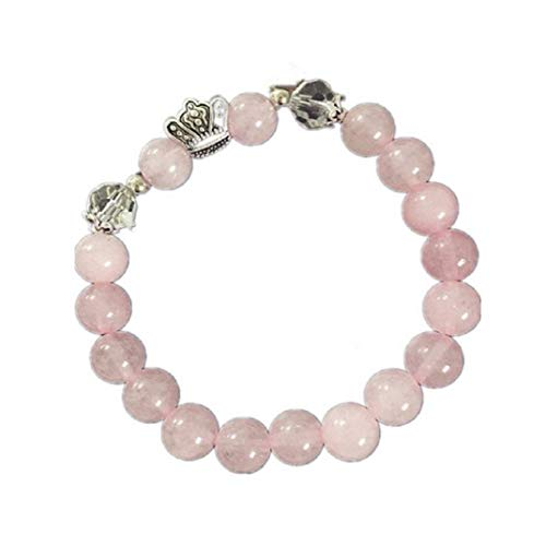 (TOPOB Beautiful Women's Bracelet, Charm Pink Crown Beaded Hand Chain for Party Jewelry Daily Accessories (Pink))