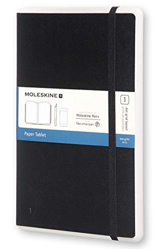 Moleskine Paper Tablet Hard Cover Smart Notebook, Dotted, Large (5