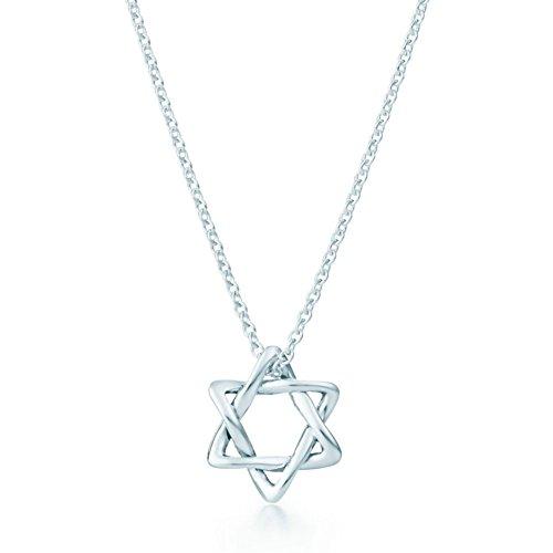 Elsa Peritti Star of David Pendant necklace Sterling - Tiffany Logo Co &