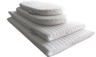 Nightynite® Ambassador Anti-allergenic Microfibre Moses Basket Mattress 74 x 28 x 4 CM OVAL SHAPED Cot Mattress Company LTD AMB6628