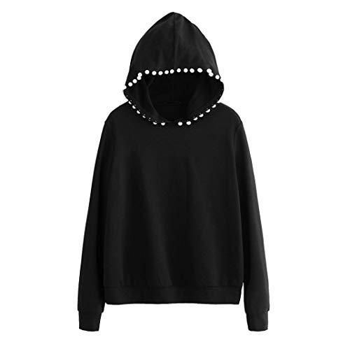 Sweatshirt Hoodie WomenMITIY Solid Long Sleeve Black Blouses Crop Tops from MITIY Women Sweatshirt