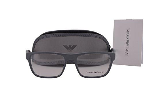 Emporio Armani EA3087 Eyeglasses 54-17-140 Matte Gray 5502 EA - Arman Emporio