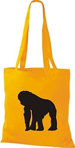 Krokodil - Bolso de tela de algodón para mujer amarillo - amarillo