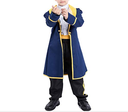 Mitef Beauty and The Beast Prince Adam Cosplay Outfits for Child, S