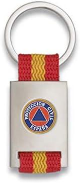 Tiendas LGP Albainox- Llavero Bandera DE ESPAÑA y Emblema Proteccion Civil, Plateado: Amazon.es: Equipaje