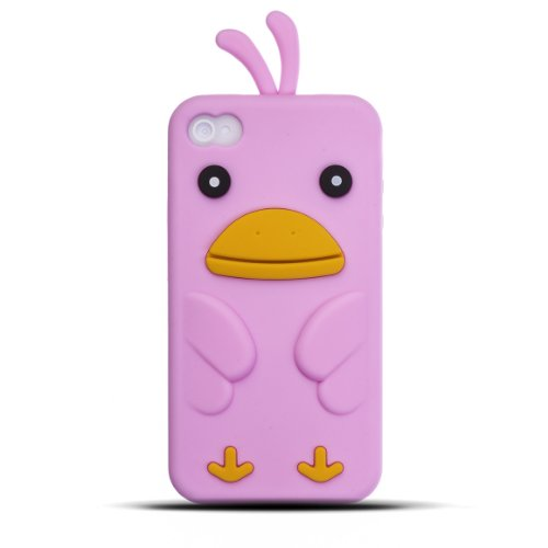 Zooky® Apple iPhone 4& 4S Stylisches Weich Silikon Gel Case/Cover, Cartoon/Huhn Design, hoher
