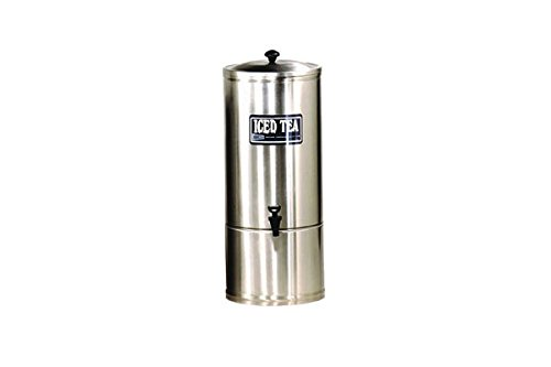 Grindmaster S Series Stainless Steel Brewed and Liquid Iced Tea Dispenser, 22.75 x 22.75 x 9.25 inch -- 1 each.