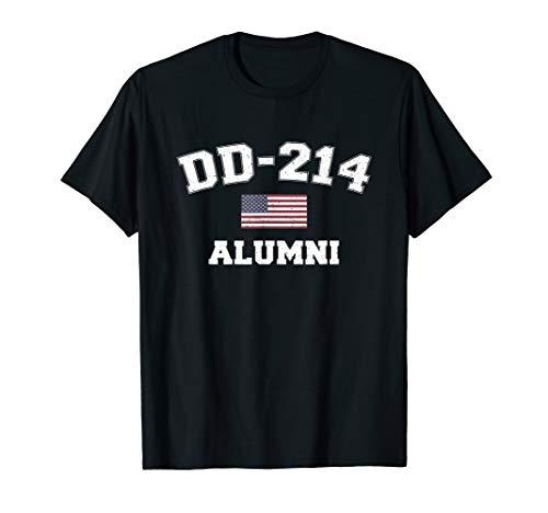DD-214 US Armed Forces Alumni USA Flag Vintage T-Shirt
