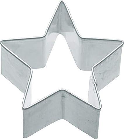 9x5x9 cm Kitchencraft Cortador para Galletas con Formas de Estrellas Acero Inoxidable Plateado