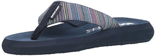 Rocket Dog Women's SPOTLIGHT2 Ipanema Cotton Flip-Flop, Navy, 9 Medium (Rocket Dog Zappos)