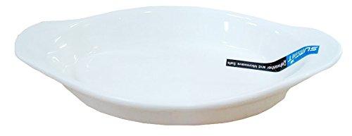 6 Pcs Oval Super White Porcelain Baking Dishes (10.5
