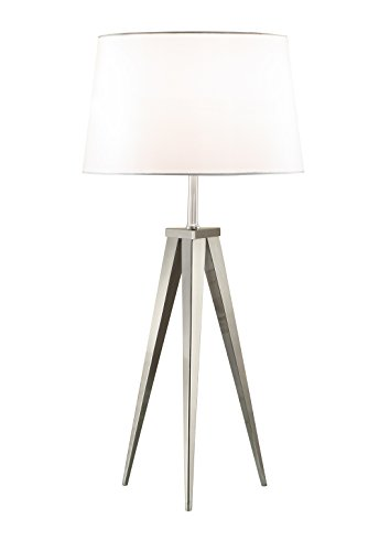 Artiva USA A501108 Modern Comtemporary Hollywood Tripod Table Lamp, 30'', Brushed Steel by Artiva USA