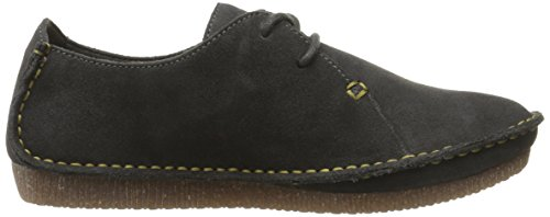 Janey Oxford Dark Mae Women's Suede Grey CLARKS ZwqPHxSP