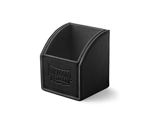 Dragon Shield Nest 100 Black & Black Durable Magnetic Leather Deck Box Case Protector