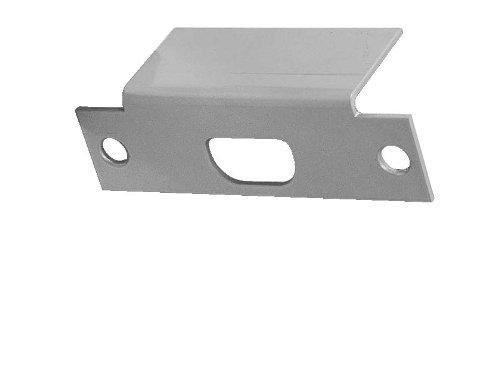 Plate Filler Coated (Don-Jo AF 261 13 Gauge Steel Electric Strike Filler Plate, Silver Coated, 1-1/4