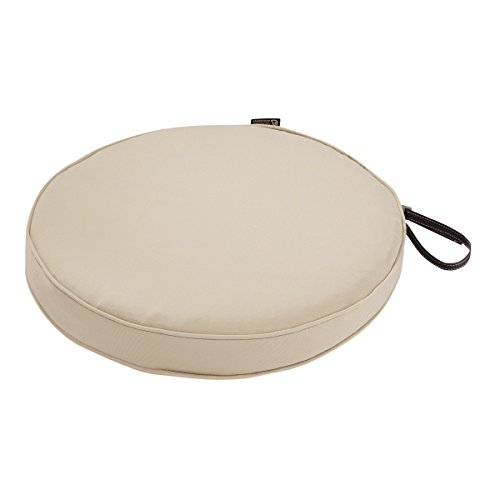 Classic Accessories Montlake Round Cushion Foam & Slip Cover, Antique Beige, 15