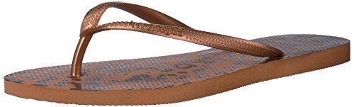 Havaianas Women's Ring Flip Flops, Rust, 35/36 BR (6 M - Havaianas Orange