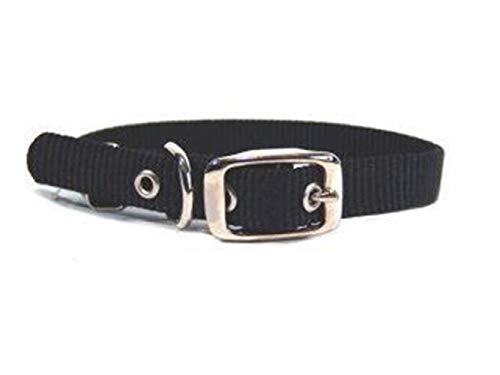 Hamilton 5/8-Inch by 16-Inch Single Thick Nylon Deluxe Dog Collar, Black