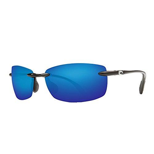 Costa del Mar BA 11 OBMP 59.6 mm Unisex-Adult Ballast Polarized Iridium Rimless Sunglasses, Black/Blue Mirror 580 Plastic Lens by Costa Del Mar (Image #3)