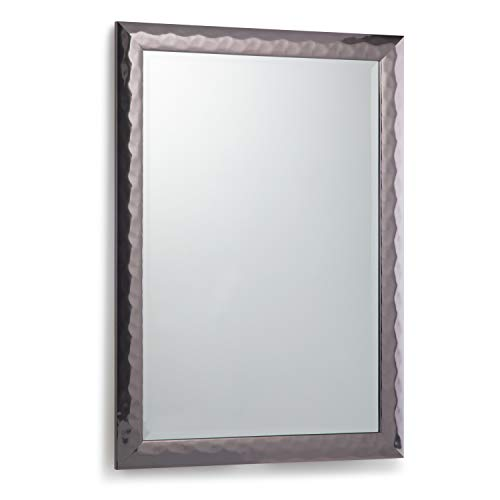 Simpli Home AXCMATH-4129 Athena 38 inch x 26 inch Rectangular Transitional Décor Mirror in Pewter