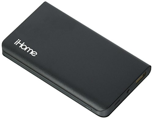 iHome - Slim Charge Duo: 3,000 mAh Slim Power Bank with 2in1 Charging Cable (Space Gray)