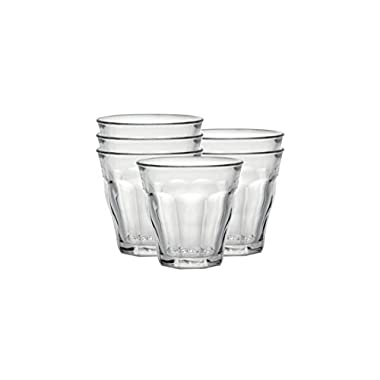 Duralex Made In France Picardie 10-1/2-Ounce Clear Tumbler, Set of 6