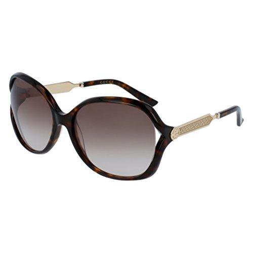 Gucci Women's Oval Sunglasses - Havana/ Brown