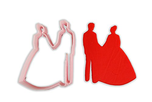 Wedding Bride And Groom Cookie Cutter - LARGE - 4 Inches