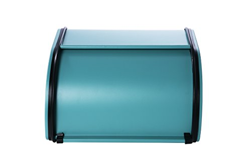 Teal-Metal-Bread-Box-with-Roll-Top-Lid-for-Kitchen-Small-Half-Loaf-Bread-Bin-Storage-Container-For-Loaves-Pastries-and-More-Retro-Vintage-Inspired-Design-10-x-85-x-55-Inches