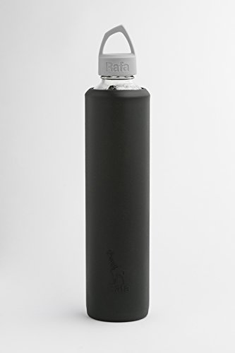 Sleeve and Lid for 800 ml VOSS Glass Bottle (Black and Gray) ()