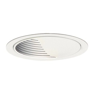 Lightolier 1085 5 Inch Basic Wall Wash Reflector Trim Round Gloss White (Lightolier Wall Washer)
