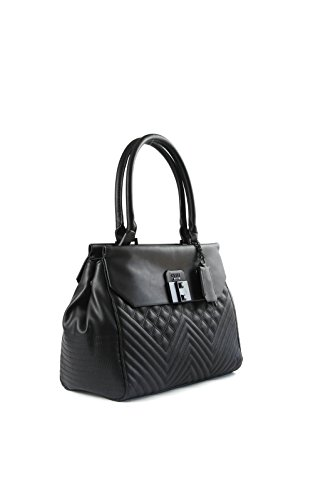 GUESS Rebel Roma Satchel (Black) – Anna s Collection 17347bebd8