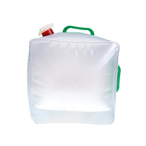 Culturemart 20L Square Water Bag Outdoor Carrier Portable Folding Water Bag Waterskin Outdoor Camping Hiking Bucket Transparent Kettle