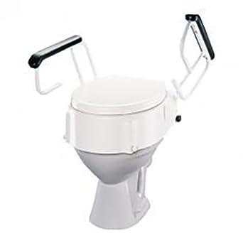 Tremendous Amazon Com Etac Hi Loo Raised Toilet Seat With Armrests 4 Machost Co Dining Chair Design Ideas Machostcouk