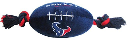 - Pets First NFL Houston Texans Football Pet Plush Football Rope Toy. - Dog Toy with Inner Squeaker