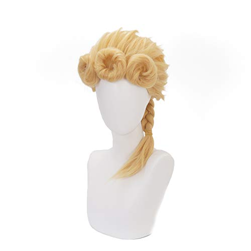 (NEWNESS Cosplay Wig Golden Wind Cosplay Wigs for JoJo's Bizarre Adventure Part 5)