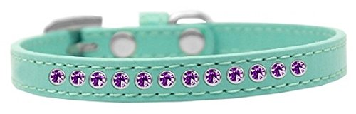 Mirage Pet Products Purple Crystal Aqua Puppy Dog Collar